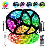12V LED Light Strip 5M / 10M / 15M 16.4ft / 32.8ft / 49.2ft 5050 RGB LED Tape Lights RGB Rope Lights 16 Milions Colors Flexibele veranderende LED Strip Lights met afstandsbediening voor TV Bedroom Party Home Lighting Kitchen Bar