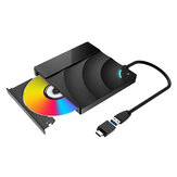 BlitzWolf®BW-VD2 External Blu-Ray DVD Drive 3D 4K Player USB3.0+Type-C Ports For WIN/MAC