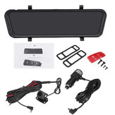 Full Screen 9.66 Inch Touch Screen Night Vision Rearview Mirror Car DVR Camera