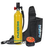DEDEPU Scuba Diving Set Bombola 1L con valvola di respirazione + contenitore Borsa Mini subacquea Accessori per bombole