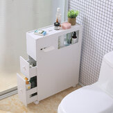 Toilet Side Storage Cabinet Shelves Waterproof Bathroom Organizer Racks With Wheels