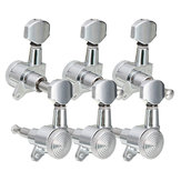 6Pcs Chaîne de guitare Tuning Pegs Syntoniseurs de verrouillage Keys Machine Heads Set