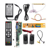T.SK106A.03 Universal LCD LED TV Controller Driver Board +7 Key button+1ch 6bit 30Pins LVDS Cable+1 Lamp Inverter+Speaker+EU Power Adapter