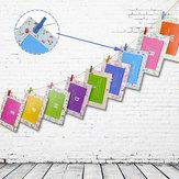 Honana HN-CH011 10pcs Colorful Wodden Clothespins Durable Photo Paper Peg Pin Craft Clips