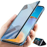 Bakeey for Xiaomi Mi 10T Pro / Mi10T Case Foldable Flip Plating Mirror Window View Shockproof Full Cover Protective Case Non-Original