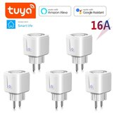 4pcs Smart Plug Mini WiFi Outlet EU 16A Remote Control Wifi Socket Work with Alexa Google Home with Power Monitoring Timing Function Tuya Smart Life APP Control Supports 2.4GHz Network