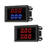 DC 100V 10A Mini Digital Voltmetro Amperometro Tester di corrente di tensione con doppio blu / rosso LED Display