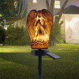 LED sol enterré solaire lumière ange ornement jardin pelouse résine lampe étanche
