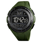 SKMEI 1656 Sport Herenhorloge Datum Weekweergave Stopwatch Countdown LED Digitaal horloge