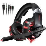 ONIKUMA K2A Gaming Headset LED Lights Noise Canceling Mic Wired Stereo Gaming Headphones Headset for PS4 Xbox Switch PC Laptop