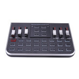 F8 4 Modes Studio Audio Mixer Microphone Webcast Entertainment Streamer Live Sound Card for Phone Computer PC