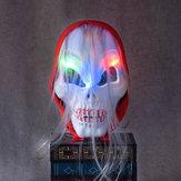 هالوين الرعب الجمجمة شبح ليد ضوء قناع الكسول الأحمر الحجاب ههيدباند الانارة زي حزب