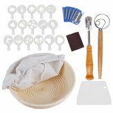 Lengkap Bread Proofing Basket Set Pemula Bread Baking Stensil Tool Kit