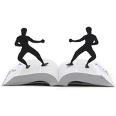 1Pcs Bookmark for Books Kongfu People Shape Page Mark Creative Office Student Supplies Gift for Children