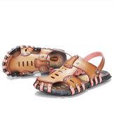 Sapatilhas de verão dos homens Praia sandálias chinelos Soft Sapatos de fundo chato de microfibra tamanho 6,5-11,5