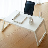 Simple Style Laptop Desk Folding Small Square Table Made of PP Material for Home Office