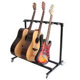 Flanger mobiel gitaarrek biedt plaats aan meer dan 3 gitaren Gitaarstandaard voor elektrische gitaar / akoestische gitaar / bas