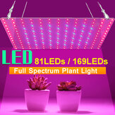 AC85-265V 25W 45W Full Spectrum UV + IR LED Planta Grow Light Veg Lámpara para flor hidropónica interior con adaptador de corriente