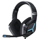 ONIKUMA X9 zestaw słuchawkowy do gier słuchawki dla graczy dźwięk przestrzenny stereofoniczne słuchawki przewodowe mikrofon USB niebieskie światło do laptopa PC
