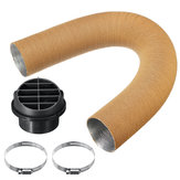 75mm Heater Pipe Duct + Warm Air Outlet + Hose For Eberspacher Diesel Webasto