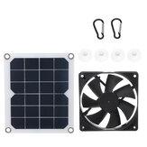 6V 10W Solar Panel Powered Fan Mini Ventilator for Pet House Greenhouse RV Roof