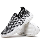 Mens Driving Slip on Loafers Running  Summer Breathable Mesh Casual Shoes