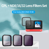 TELESIN CPL + ND8 / ND16 / ND32 Filterlinsen-Set 2-seitige Antireflexbeschichtung für Insta360 ONE R 4K Action-Kamera