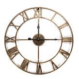 Esqueleto grande Reloj Estilo pared con espejo Reloj Shabby vendimia Números romanos elegantes