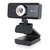 EIVOTOR 720P/1080P USB Webcam 30FPS Wide Angle Computer Web Camera USB2.0 Built-in Microphone for Desktop Computer Notebook PC