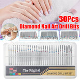 30Pcs/Set Diamond Nail Drill Bit For Art Nail Acrylic Cuticle Pedicure Tools