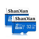 Tarjeta de memoria Shandian 8/16/32/64/128 GB Clase 10 Tarjeta de memoria TF / SD de alta velocidad para iPhone 12 para Samsung Galaxy S21 Smartphone Altavoz con interruptor de tableta Drone Coche DVR GPS Cámara