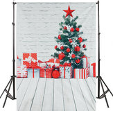 5x7FT Christmas Tree Gift Decor Watercolor Wall Backdrop Photography Props