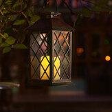 Lanterna a sospensione ad energia solare LED lampada Luce stile retrò da esterno / interno per decorazioni natalizie da giardino