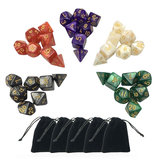35Pcs Multisided Dices Set Polyhedral Dice Role Playing Games Gadget 5 cores