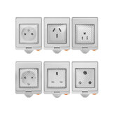 SONOFF® S55 Impermeable WIFI Smart Enchufe Switch UK / AU / US / FR / DE / ZA Versión múltiple Wifi Enchufe Funciona con Alexa Google Home