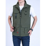 Mens Fashion Multi Pockets Casual Vest