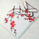 Plum Blossom Flower Applique Clothing Embroidery Patch Fabric Sticker Iron On Patch Sewing Repair
