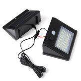 64/48/32 Su Geçirmez LED Solar Panel Gücü Sensör Duvar Işığı Outdoor Yürüme Yolu Lamba 2.5m Kablo ile