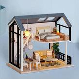 CUTE ROOM Miss Happeiness Theme of DIY montado Boneca Casa com tampa para brinquedos infantis