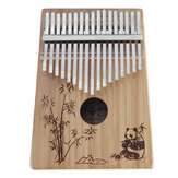 17-Key Kalimbas Bamboo Thumb Piano, Marimbas Finger Instrument en Complete Accessories Learning Book Tuning Hammer