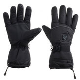 45-55℃ Electric Heated Gloves Touch Screen With 2 Battery Box Warmer Black Waterproof