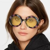 HomensmulheresUV400óculosdesol de óculos de sol de quadro redondo não polarizado