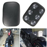 Pillion Pad Seat 6 Sucção Cup Black Para Harley Dyna Sportster Softail Touring