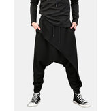 Hommes Casual Drapé Drop Crotch Harem Hip Hop Pantalon Baggy Cross-Pants