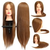 Bruin 18 Inch Lang Straight Hair Training Model Mannequin Practice Hoofd Salon Snijden
