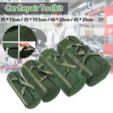 Portable Canvas Heavy Duty Tool Bag Pockets Carry Auto Mechanic Repair Kit Round Bag