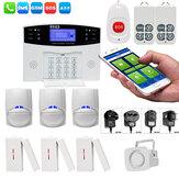 Angus 433Mhz GRPS GSM PSTN Sistema de alarme de intrusão de segurança residencial inteligente Fio e Fio Intercom sem fio com sirene de 110db para a casa Tipo B