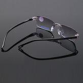 Unisex Faltbare rahmenlose, diamantbesetzte, anti-blaue, hellblaue Film-Lesebrille Presbyopische Brille