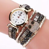 DUOYA D175 Cute Style Owl Ladies Bracelet Gift Watch