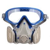 Beschermende gezichtsbescherming Anti-spatten Deeltjesmasker Stofdicht Stofbril Chemische stofmasker en veiligheidsbril Gezichtsmasker Bestrijdingsmiddel Stofdicht Brandtrap Ademhalingsapparaat